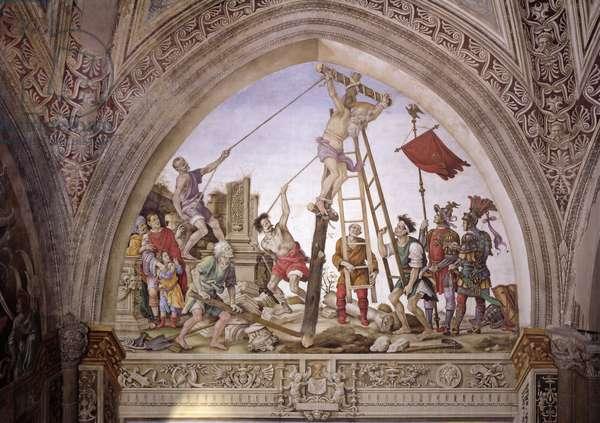 Martyrdom of St. Philip, south wall of Strozzi Chapel, c.1497-1502 (fresco)
