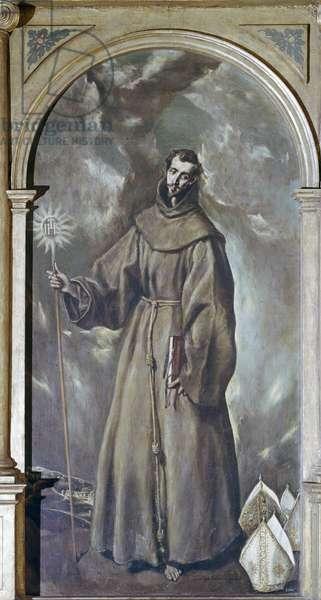 St. Bernardino of Siena (oil on canvas)