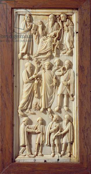 Plaque depicting scenes from the Life of St. Paul, c.1400 (ivory)