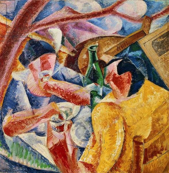 Under the Pergola in Naples or Under the Pergola , 1914 (oil on canvas)