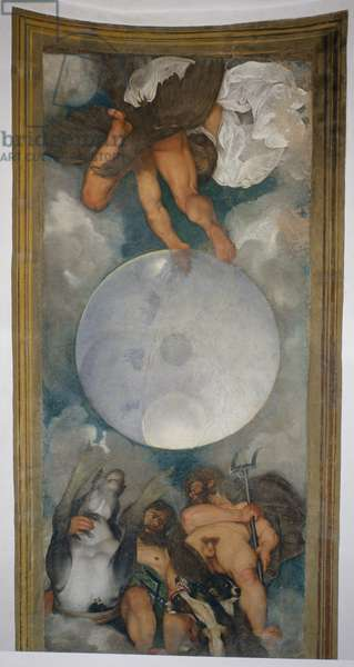 Allegory of the Elements, the Universe and Signs of the Zodiac, 1597 (oil on plaster) (for detail see 107110)