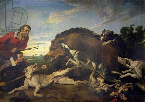 The Wild Boar Hunt, c.1640 (oil on canvas)