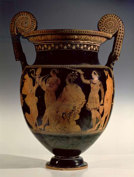 Karneia, or Harvest Festival, red-figure volute krater, late 5th century BC - early 4th century BC (ceramic)