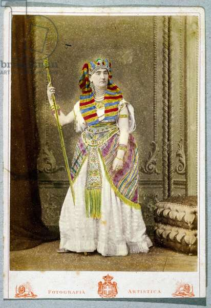 Postcard with man in Eastern costume (colour litho)