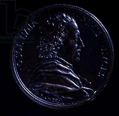 Portrait medal of Gian Lorenzo Bernini (1598-1680), 1674 (bronze) (for reverse see 124306)