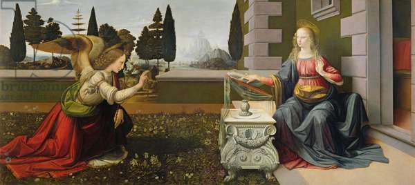 Annunciation, 1472-75 (oil on panel)  (post restoration)