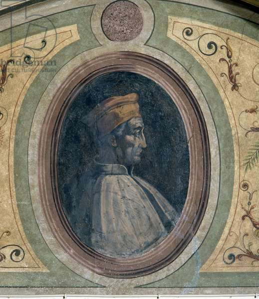 Portrait of a man, Camera della Fama, 1548 (fresco)
