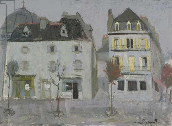 Houses, Concarneau, 1954 (oil on canvas)