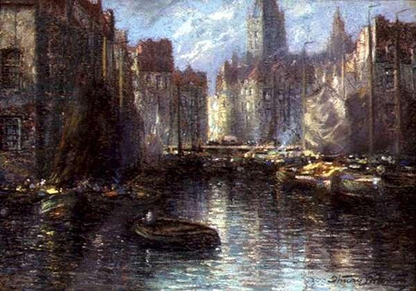 Amsterdam, c.1910 (pastel)