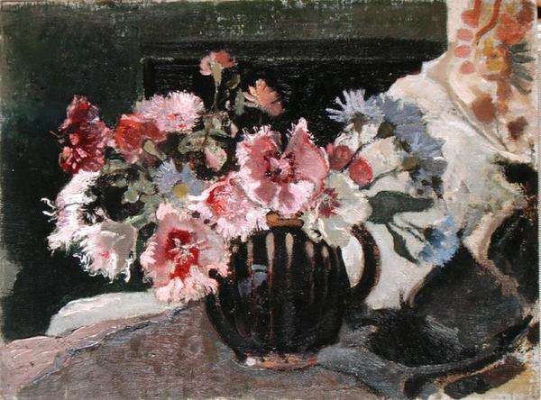 Pinks and Carnations, c.1930 (oil on canvas)