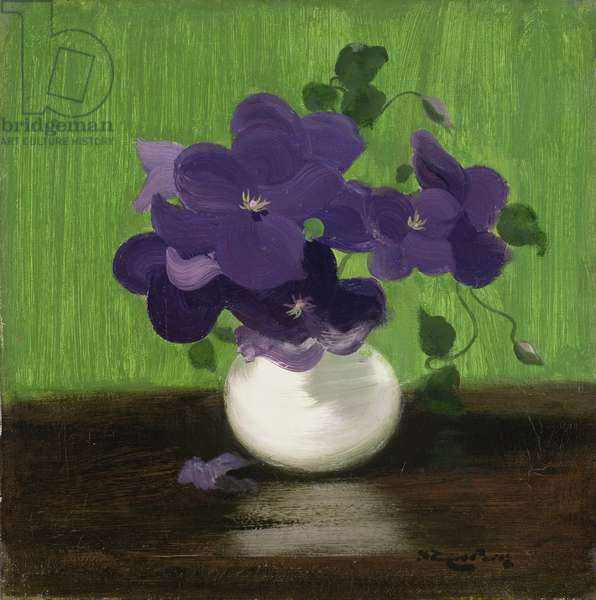 Violets, c.1900 (oil on canvas)