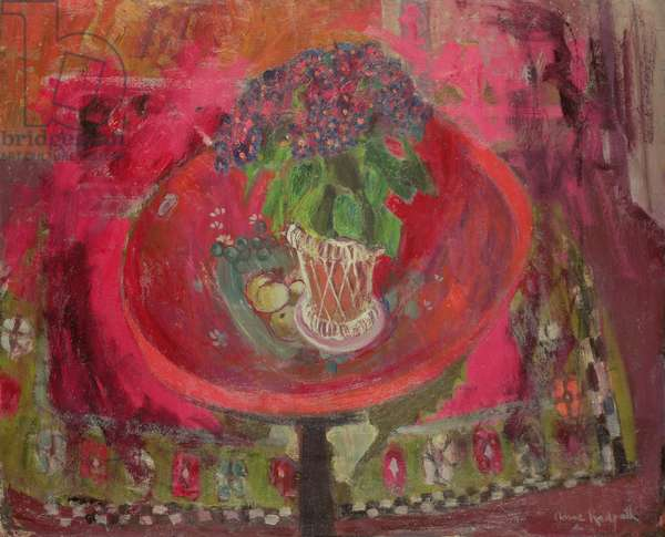 The Red Tray (oil on board)