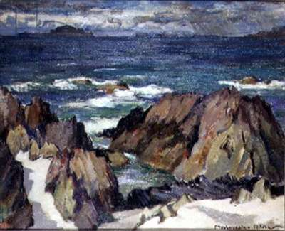 Lunga from Iona (oil on canvas)