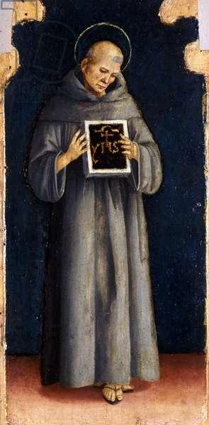 St. Bernard of Siena, c.1515-20 (tempera on poplar wood)