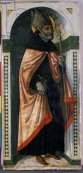 St. Augustine, c.1500 (tempera on wood)