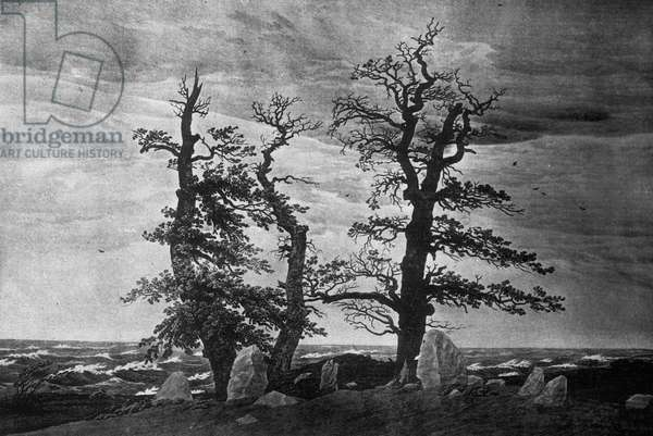 Dolmen by the Sea (pencil & sepia ink on paper)