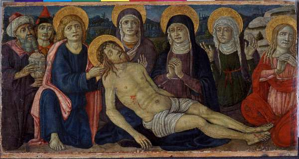 The lamentation of Christ, c.1500 (tempera on wood)