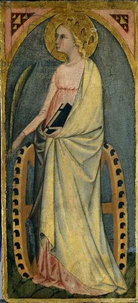 St. Katharine, c.1400 (tempera on poplar wood)