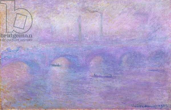 Waterloo Bridge in Fog, 1899-1901 (oil on canvas)
