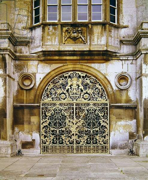 Gates from Burghley House, 1710
