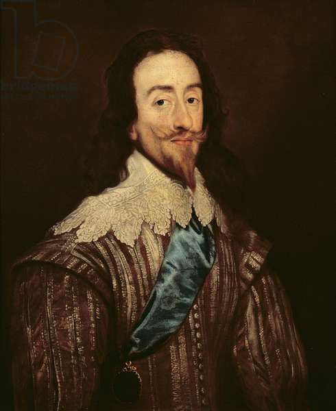 Charles I (1600-49) (oil on canvas)