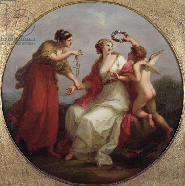 Prudence resisting Love