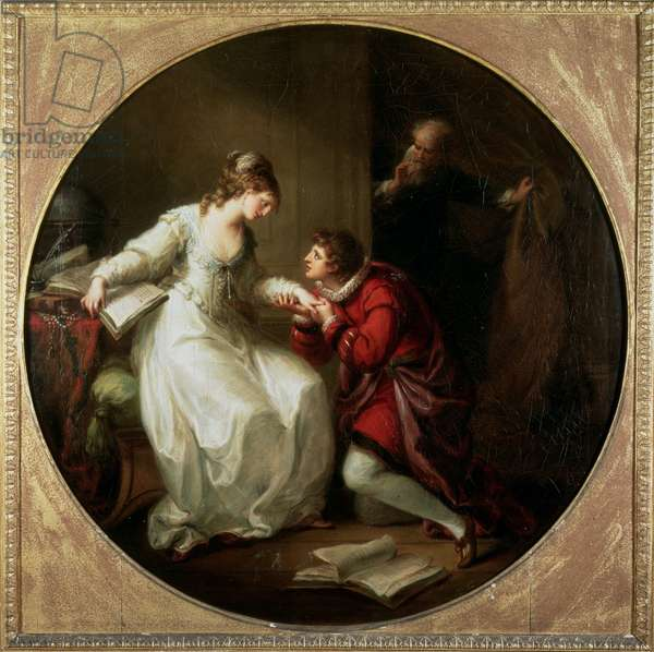 Abelard soliciting the hand of Heloise