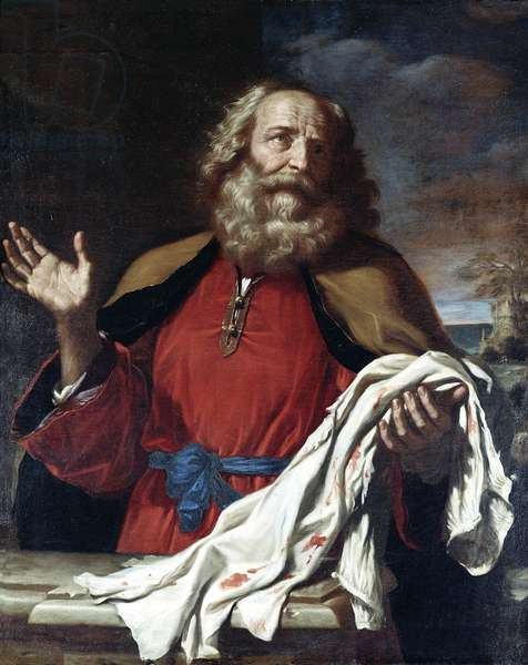 Jacob Receiving Joseph's Coat (oil on canvas)
