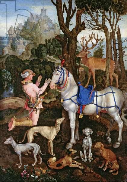 St.Hubert (oil on canvas)
