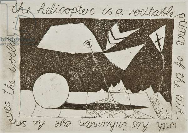 The Helicopter, 1936 (etching & aquatint)