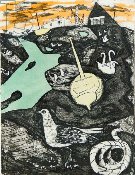 The Seagull, 1956-57 (etching & aquatint)