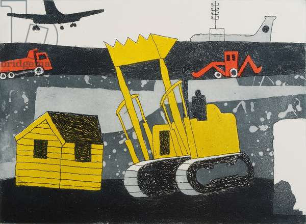 Bulldozer, 1973 (etching & aquatint)