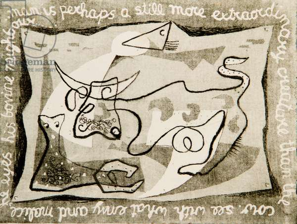 The Cow, 1932 (etching)
