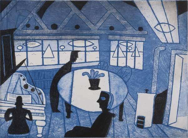Water Music, 1984 (etching & aquatint)