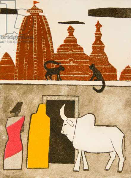 Hindu Temple, 1968 (etching, aquatint & soft ground)