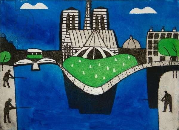 Notre Dame, 1980 (etching & aquatint)