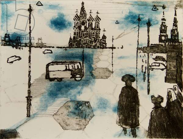 Moscow, 1961 (etching & aquatint)