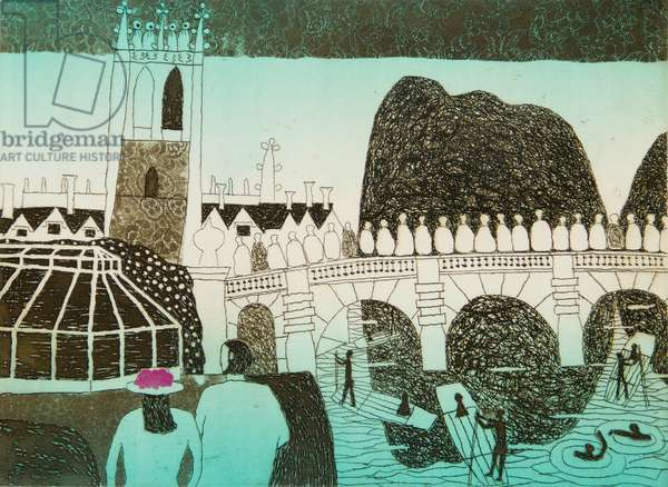 Oxford May Morning, 1971 (etching & aquatint)
