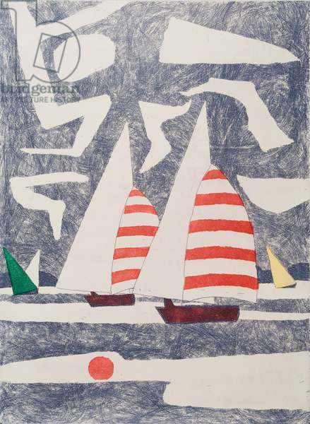 Spinnakers, 1971 (etching, aquatint & soft ground)