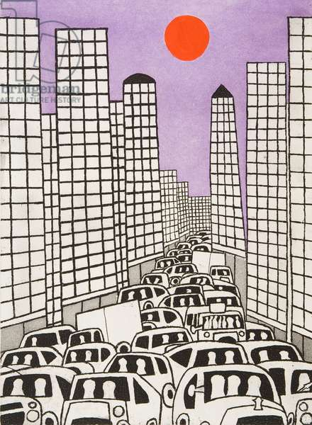 Avenue of the Americas, 1982 (etching & aquatint)