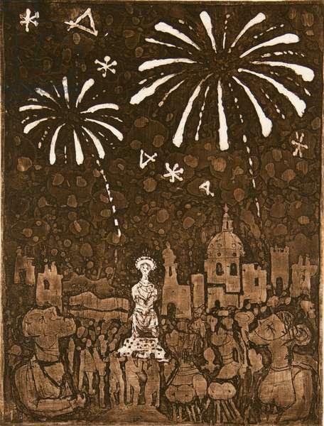 Carnival, 1959 (etching)