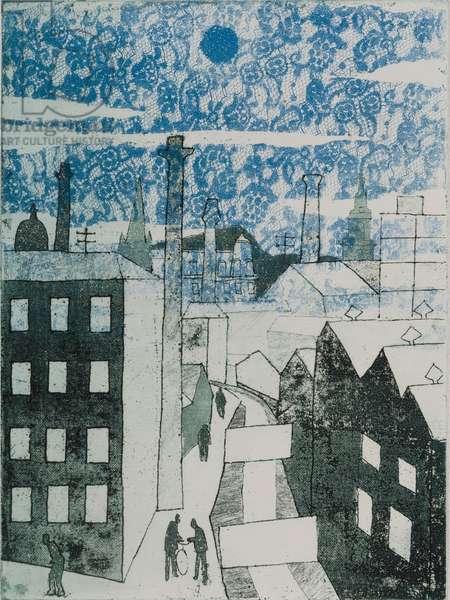 Bolton High Level, 1964 (etching & aquatint)