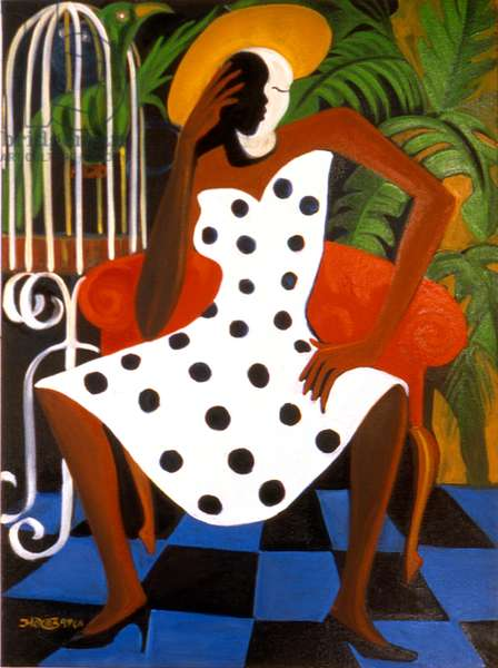 In her Own State of Grace, 1996 (oil on canvas)