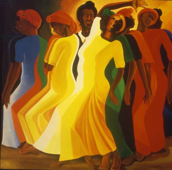 Procession of the Mediums, 1994 (oil on canvas)