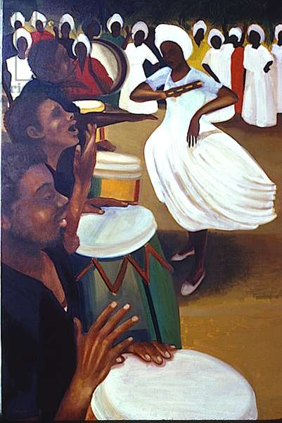 Roots and Rhythm, 1984 (oil on canvas)