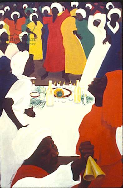 At the Table of Zion, 1983 (oil on canvas)