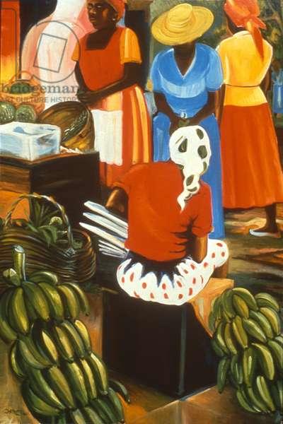 Banana Vendor, 1990 (oil on canvas)