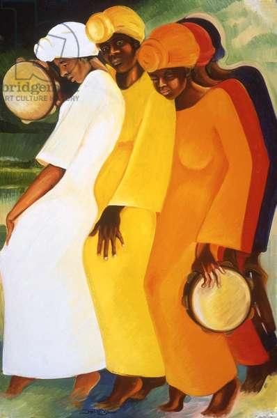 Tambourine Chorus, 1989 (oil on canvas)