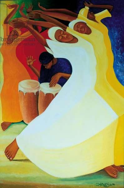 Flow with the Rhythm, 2002 (oil on canvas)