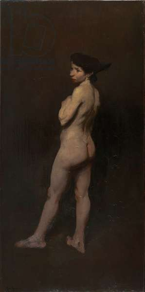 Nude, Miss Bentham, New York, 1906 (oil on canvas)